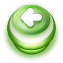 128x128px size png icon of Button Green Arrow Left