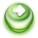 128x128px size png icon of Button Green Arrow Right