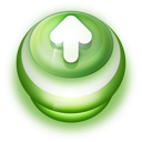 128x128px size png icon of Button Green Arrow Up