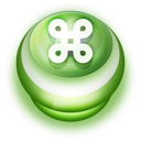 128x128px size png icon of Button Green Commandkey