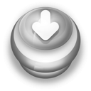 128x128px size png icon of Button Grey Arrow Down
