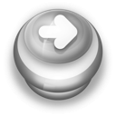 128x128px size png icon of Button Grey Arrow Right