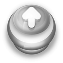 128x128px size png icon of Button Grey Arrow Up