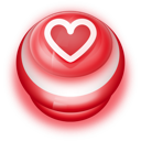 128x128px size png icon of Button Red Love Heart