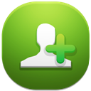 128x128px size png icon of add contact