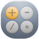 128x128px size png icon of calc