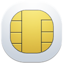 128x128px size png icon of sim card