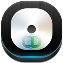 128x128px size png icon of cd drive 2