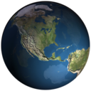 128x128px size png icon of QsEarth