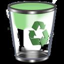 128x128px size png icon of Qx9 Vista Bin2 Green Empty
