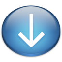 128x128px size png icon of Down