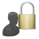 128x128px size png icon of Padlock User Control