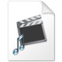 128x128px size png icon of Movie and music file