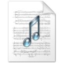 128x128px size png icon of Music file