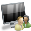 128x128px size png icon of User Computer