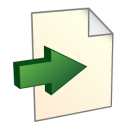 128x128px size png icon of Export To File