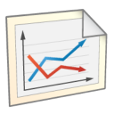 128x128px size png icon of Line Chart