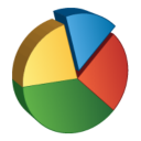 128x128px size png icon of Pie Chart