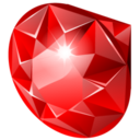 128x128px size png icon of ruby