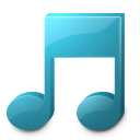 128x128px size png icon of Music player