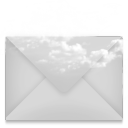 128x128px size png icon of mail envelope cloud