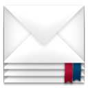 128x128px size png icon of mail envelope package