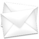 128x128px size png icon of mail envelopes