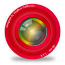 128x128px size png icon of Red Aperture