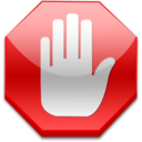 128x128px size png icon of Stop