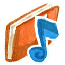 128x128px size png icon of Red music