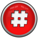 128x128px size png icon of Hash