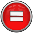128x128px size png icon of Math equal