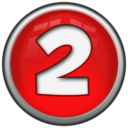 128x128px size png icon of Number 2