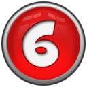 128x128px size png icon of Number 6