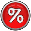 128x128px size png icon of Percent