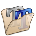 128x128px size png icon of Folder beige font2