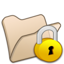 128x128px size png icon of Folder beige locked