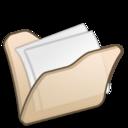 128x128px size png icon of Folder beige mydocuments