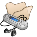 128x128px size png icon of Folder beige mymusic