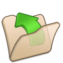 128x128px size png icon of Folder beige parent