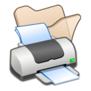 128x128px size png icon of Folder beige printer