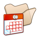 128x128px size png icon of Folder beige scheduled tasks