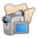 128x128px size png icon of Folder beige videos