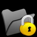 128x128px size png icon of Folder black locked