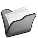 128x128px size png icon of Folder black mydocuments