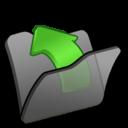128x128px size png icon of Folder black parent