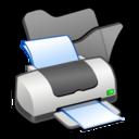 128x128px size png icon of Folder black printer