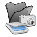 128x128px size png icon of Folder black scanners cameras