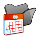 128x128px size png icon of Folder black scheduled tasks