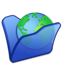 128x128px size png icon of Folder blue internet